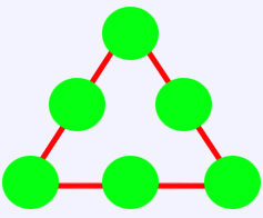 معما حل کنید (مثلث جادویی)