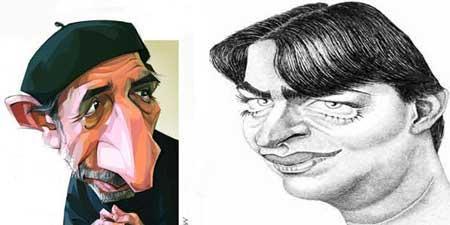 کاریکاتور بازیگران مهربان و با عشق ایران