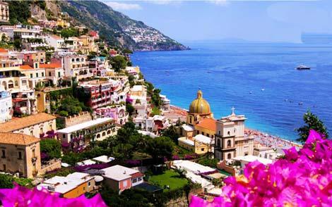 عکس هایی زیبا از شهر ساحلی آمالفی در ایتالیا