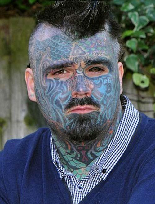 مرد بریتانیایی که بیشترین تتو را روی پوستش دارد