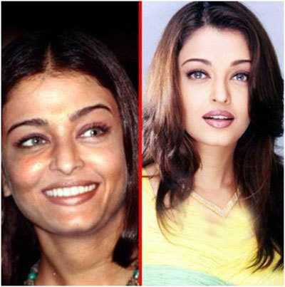 بازیگران زن بالیوودی قبل و بعد از آرایش (تصویری)