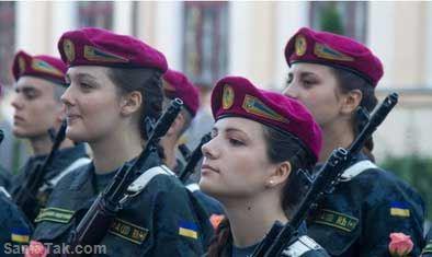 عکس های جالب و دیدنی از باحال ترین زنان سرباز در اوکراین