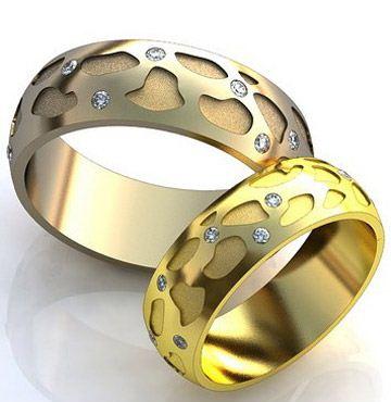 تصاویری از نمونه های جدید حلقه ست عروس و داماد