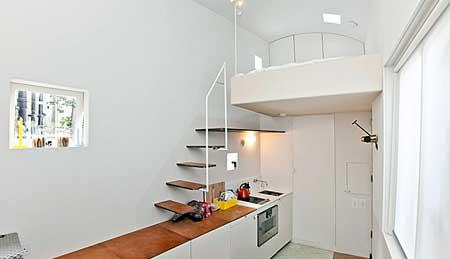 کوچک ترین خانه مجلل دنیا 17 متر مساحت دارد + تصاویر