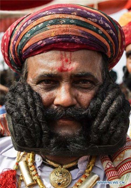 فستیوال جالب سبیل کلفت های جهان در هند