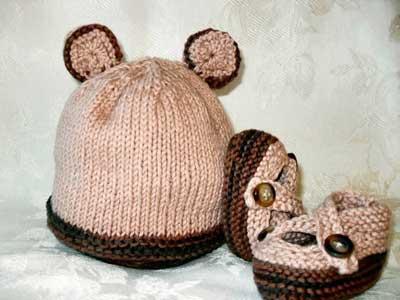 مدل های جدید کلاه و شال گردن بافت بچگانه