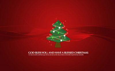 کارت تبریک جشن کریسمس آغاز سال میلادی