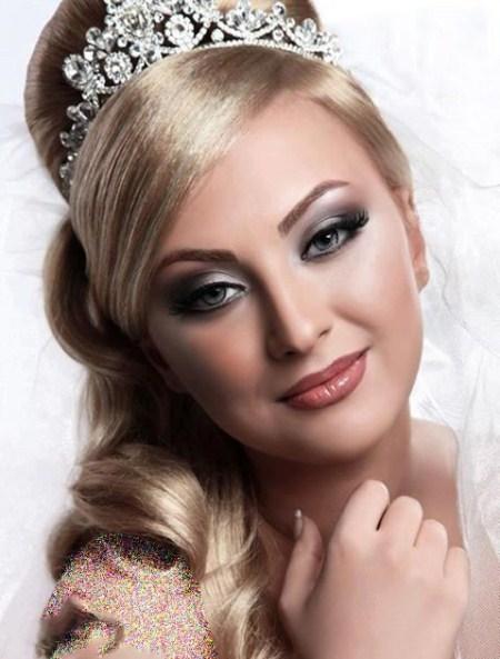 عکس آرایش موی عروس