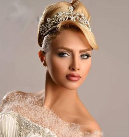 آرایشگاه فردا بوکان عکس مدل های جدید شنیون مو و آرایش صورت عروس