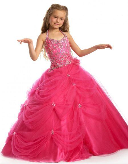 مدل های لباس مجلسی پفی و چین دار دخترانه