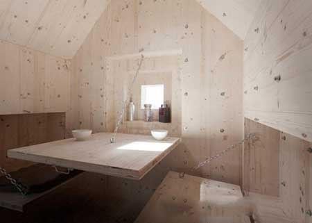 ساخت خانه های کوهستانی به شکل تخته سنگ