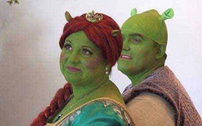 گریم عروس و داماد به سبک شرک و پرنسس فیونا