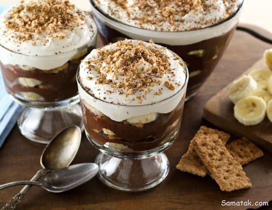 طرز تهیه پودینگ شکلاتی + مواد لازم و تزیین پودینگ شکلاتی