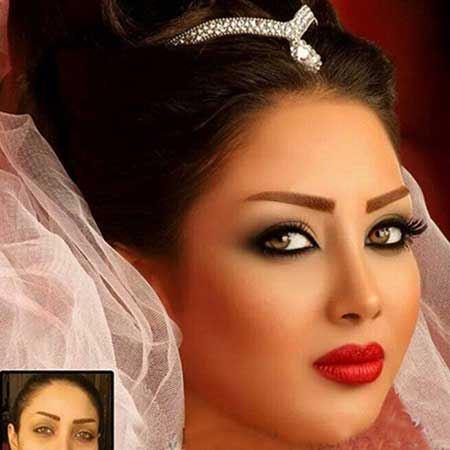 مدل های ناز و شیک آرایش صورت عروس