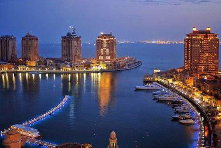عکس هایی از جزیره مصنوعی مروارید در نزدیکی دوحه قطر