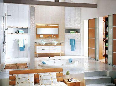 تصاویری از سری جدید دکوراسیون و چیدمان حمام مستر و وان