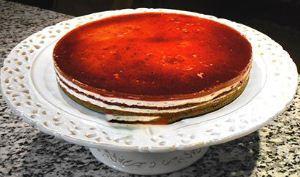 طرز تهیه چیز کیک آلبالو در فر و بدون فر