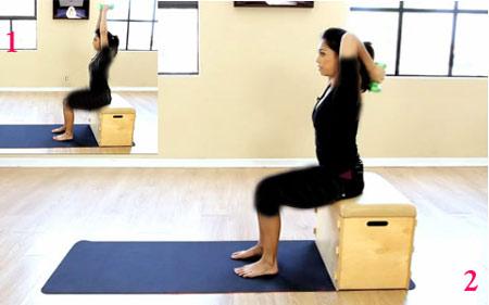 حرکات و تمرینات ورزشی مفید برای تقویت عضلات پشت بازو