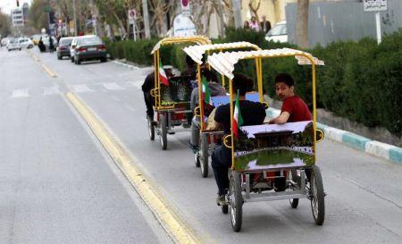 فستیوال دوچرخه های 4 نفره هم رکاب در اصفهان