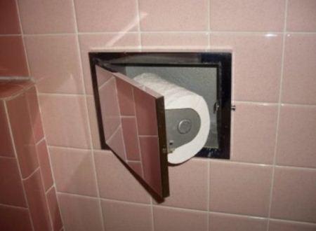 مدل های جالب و خلاقانه جا دستمالی توالت و دستشویی