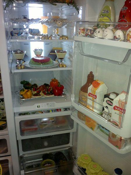 چیدمان و تزیینات داخل یخچال عروس