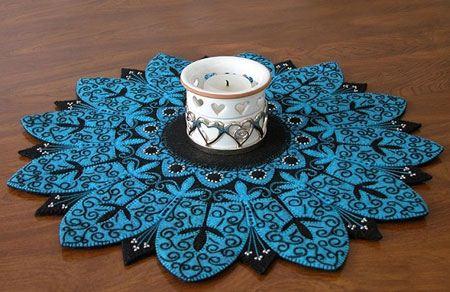 عکس مدل های سنتی رومیزی نمدی