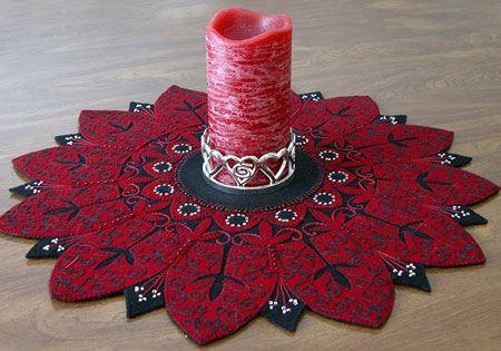 سرویس شیک نمدی عکس مدل های سنتی رومیزی نمدی