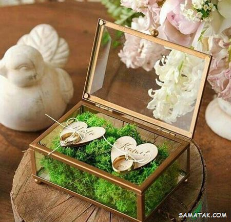 مدل جا حلقه ای عروس و داماد | تزیین جا حلقه ای عروس و داماد