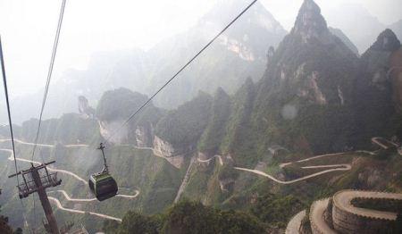 """جاده زیبای پر پیچ و خم """"راه بهشت"""" در استان هانان چین"""