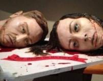 کیک عروسی ترسناک به شکل سر بریده عروس و داماد