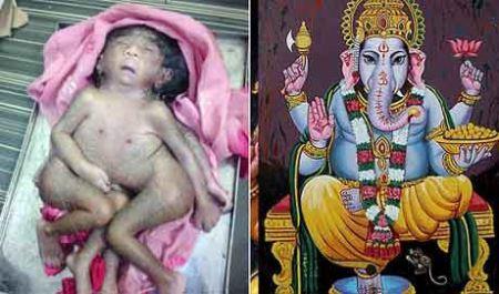 مردم هند این دختر را می پرستند