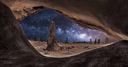 عکس های طبیعی از آسمان با ستاره های زیبا و قشنگ