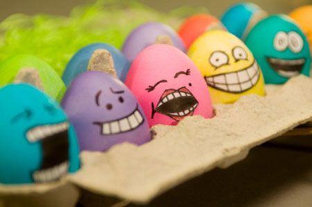 تصاویری از نقاشی های خنده دار و جالب روی تخم مرغ ها