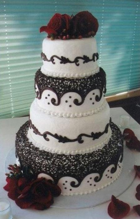 مدل های جدید کیک عروسی سه طبقه و چهار طبقه