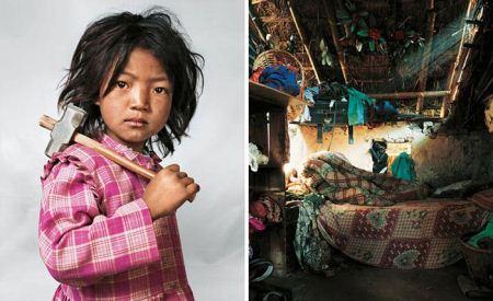 فرق زندگی کودکان پولدار و گدا + تصاویر