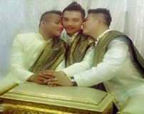 جشن ازدواج پسران همجنس باز در کشور تایلند + تصاویر