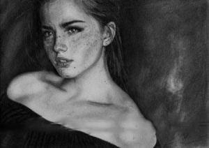 عکس نقاشی های زیبا با استفاده از فن سیاه قلم