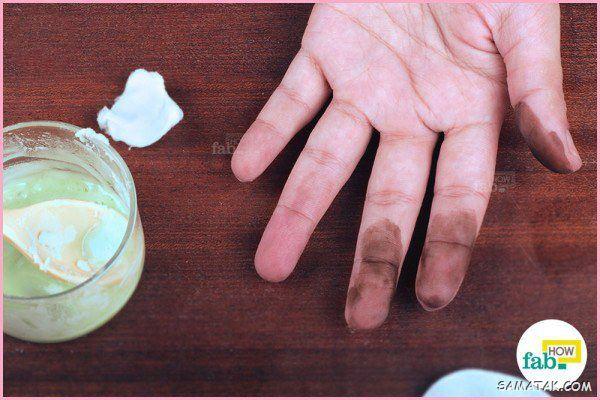 روش پاک کردن رنگ مو از روی پوست | از بین بردن لکه رنگ مو روی پوست