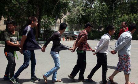 تصاویری از بدن خط خطی اراذل و جاهلین تهران