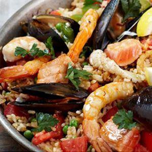 طرز تهیه میگو پلو با سبزیجات خوشمزه ترین غذای دریایی
