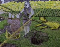 خلق تصاویر زیبا با محصولات کشاورزی در مزرعه