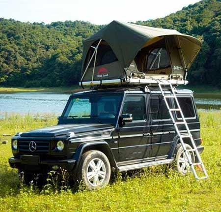 چادر سقفی باربند خودرو مجهز به سیستم کنترل از راه دور