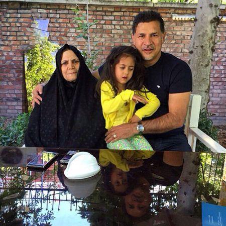 جدیدترین عکس مادر علی دایی و دخترش