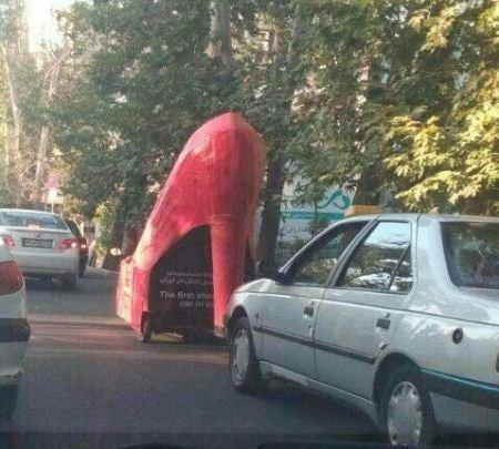 نخستین ماشین ایرانی مدل کفش پاشنه بلند (عکس)
