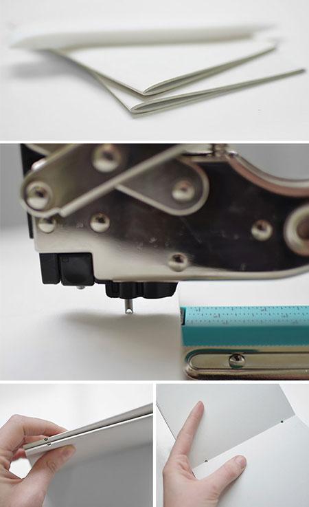 آموزش تصویری صحافی و ساخت دفتر با جلد چرمی