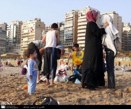 فیلم جفت ري حيوانات با انسان تصاویر دیدنی از شنا کردن زنان و دختران لبنانی در دریا