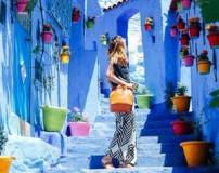 زیباترین شهر توریستی در مراکش به رنگ آبی