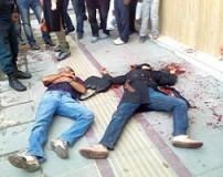 تصادف مرگبار زوج موتور سوار در شهر زاوه