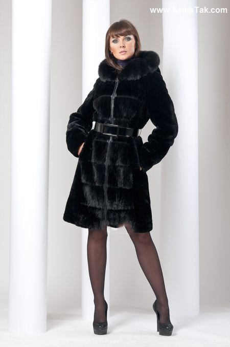 مدل پالتو زنانه رنگ مشکی