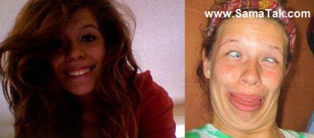 عکس های خنده دار شکلک درآوردن دختران خوشگل